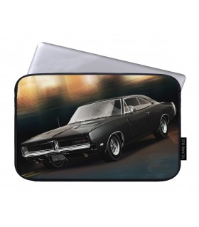 1969 dodge charger printed laptop sleeves